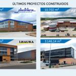 PROYECTOS CONSTRUIDOS DURANTE EL ÚLTIMO AÑO